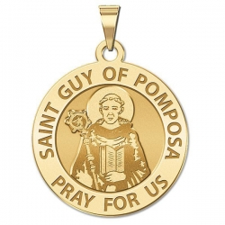 Saint Guy of Pomposa Religious Medal   EXCLUSIVE