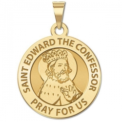 Saint Edward the Confessor Religious Medal  EXCLUSIVE