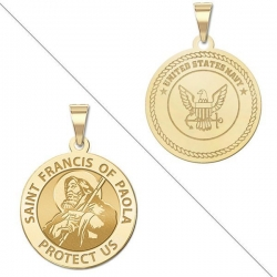 Saint Francis of Paola DoubleSided Navy Medal  EXCLUSIVE
