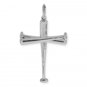 High Polished Baseball Bat Cross Pendant Pg91332