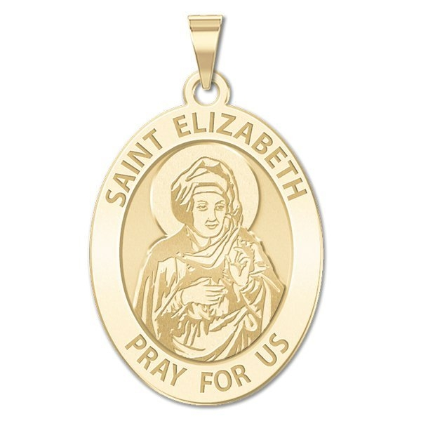PicturesOnGold.com Saint Elizabeth (mary's Cousin) Medal, Solid 10k White Gold, 2/3 x 3/4 in, height of nickel at Sears.com