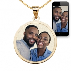 Round with Border Photo Pendant Picture Charm