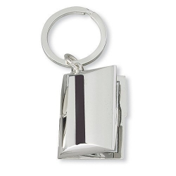 Silver Plated Rectangle Keychain Locket