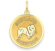 Shetland Sheepdog Disc Charm or Pendant