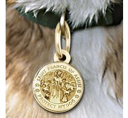 Saint Francis of Assisi   Protect My Dog   Round  Picture Locket