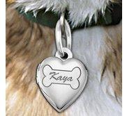 Dog Bone Heart Picture Locket
