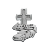 Don t Text   Drive Religious Metal Visor Clip