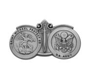 Saint Michael Army Religious Metal Visor Clip