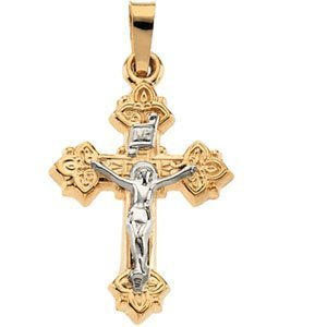 TWO TONE CRUCIFIX PENDANT