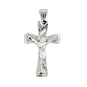 Sterling Silver Crucifix Cross Pendant