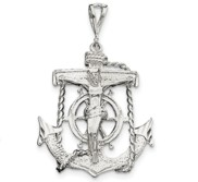 Sterling Silver Mariner Cross Pendant