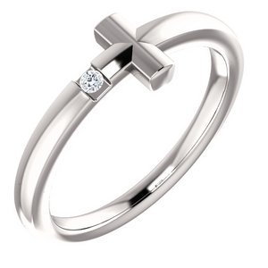 015 CTW Diamond Youth Cross Ring