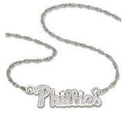 Philadelphia Phillies Name Plate Necklace W  Chain