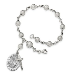 Blessed Mother Virgin Mary  Miraculous Medal  Double Sided Rosary Bracelet  EXCLUSIVE
