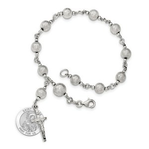 Saint Clare of Assisi Rosary Bracelet  EXCLUSIVE