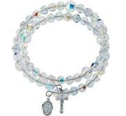 Swarovski Crystal Wrap Rosary Bracelet