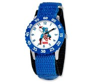Captain America 7  Nylon Band With Velcro Closure