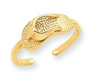 14k Yellow Gold Sandal Toe Ring