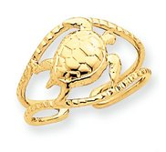 14k Yellow Gold Turtle Toe Ring