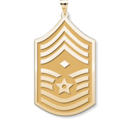Unites States Air Force Chief Master Sergeant  Note Diamond  Pendant