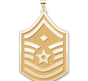 Unites States Air Force Master Sergeant  note Diamond  Pendant