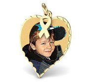 Medium Heart  Childhood Cancer Awareness Pendant