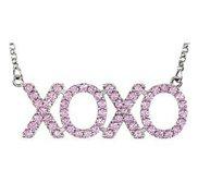 XOXO CZ Pink Pendant