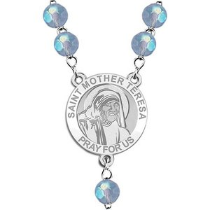 Saint Mother Teresa Rosary Beads  EXCLUSIVE
