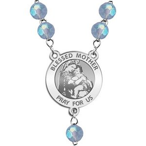 Blessed Mother  Virgin Mary Rosary Beads  EXCLUSIVE