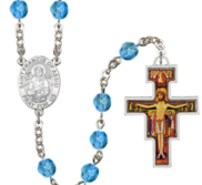 San Damiano   Saint Francis Rosary Beads  EXCLUSIVE