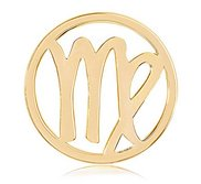 Nikki Lissoni Gold tone 1 1 4 Inch Virgo Coin