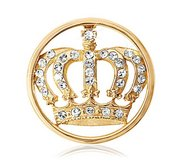 Nikki Lissoni Gold tone 1 Inch Clear Swarovski Elements Royal Crown C