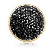 Nikki Lissoni Gold tone 1 1 4 Inch  Black Rock Swarovski Element Coin