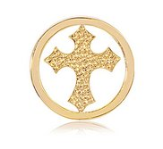 Nikki Lissoni Gold tone 1 Inch Cross Coin