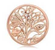 Nikki Lissoni Rose Tone 1 1 4 Inch Swarovski Element Fantasy Tree Coin