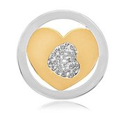 Nikki Lissoni Two tone 1 Inch Swarovski I ll Never Forget You Coin