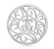 Nikki Lissoni Silver tone 1 1 4 Inch Chinese Lucky Coin