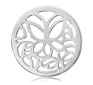 Nikki Lissoni Silver tone 1 1 4 Inch Butterfly Coin