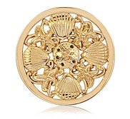 Nikki Lissoni Gold tone 1 1 4 Inch Secrets of the Sea Coin