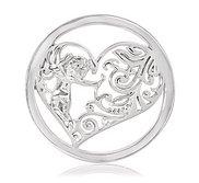 Nikki Lissoni Silver tone 1 1 4 Inch Cupids Heart Coin