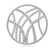Nikki Lissoni Silver tone 1 1 4 Inch Swarovski Rebellious Stripes Coin