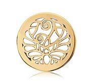 Nikki Lissoni Gold tone 1 Inch Fantasy Peacock Coin