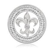 Nikki Lissoni Silver tone 1 1 4 Inch French Sparkle Coin