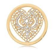 Nikki Lissoni Gold tone 1 1 4 Inch Swarovski Elements Wicked Love Coin