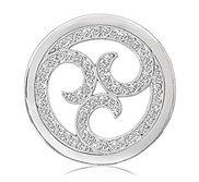 Nikki Lissoni Silver tone 1 1 4 Inch Swarovski Sparkling Curls Coin
