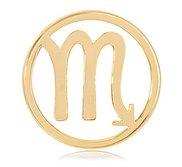 Nikki Lissoni Gold tone 1 1 4 Inch Scorpio Coin
