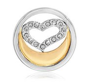 Nikki Lissoni Two tone 1 Inch Swarovski Love is in the Air Coin
