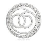Nikki Lissoni Silver tone 1 1 4 Inch Swarovski Sophisticated Coin