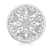 Nikki Lissoni Silver tone 1 3 4 Inch Butterfly Garden Coin