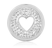 Nikki Lissoni Silver tone 1 Inch Swarovski Love is all around Coin